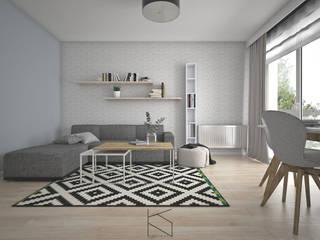 Projekt aranżacji wnętrz mieszkania we Wrocławiu: styl , w kategorii  zaprojektowany przez KN.wnętrza