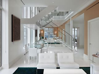 Park Avenue Duplex:  Living room by andretchelistcheffarchitects