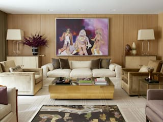 West Village Townhouse:  Living room by andretchelistcheffarchitects