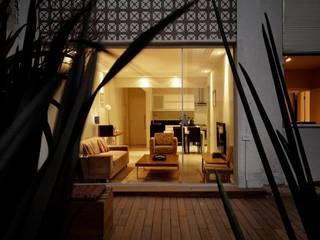 Apartamento E.C., Jardins, São Paulo: Casas familiares  por André Viana Arquitetura,Moderno