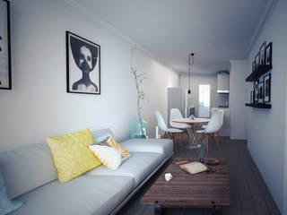 Salas de estar  por LUBAAL construcción y arquitectura  , Colonial