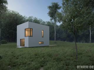Cube House Studio A&W Minimalistyczne domy od Architekt Łukasz Bulga Studio A&W Kraków | Projekty domów nowoczesnych Minimalistyczny