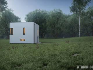 Cube House Studio A&W Nowoczesne domy od Architekt Łukasz Bulga Studio A&W Kraków | Projekty domów nowoczesnych Nowoczesny