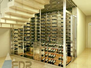 EDR - Adegas Climatizadas Modern Home Wine Cellar Glass Transparent