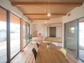 西国分の家: 株式会社田渕建築設計事務所が手掛けたダイニングです。,