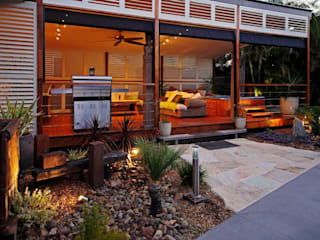 Aluminium Shutters - Outdoor Rooms Modern Terrace by TWO Australia Modern