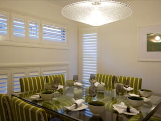 Plantation Shutters - Dining Rooms Colonial style dining room by TWO Australia Colonial