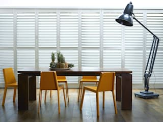 Plantation Shutters - Dining Rooms:  Dining room by TWO Australia