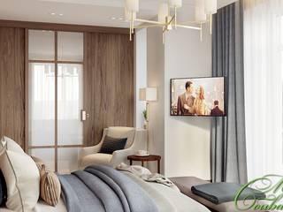 Chambre minimaliste par Компания архитекторов Латышевых 'Мечты сбываются' Minimaliste
