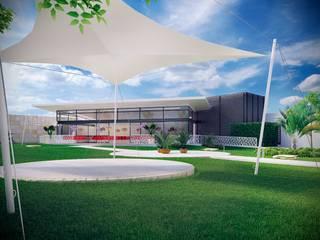 Salón de Fiestas La Paz Locaciones para eventos de estilo minimalista de Soy Arquitectura Minimalista