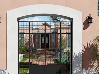 ARBOL Arquitectos Colonial style houses Pink