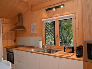 RUSTICASA Küchenzeile Holz Holznachbildung