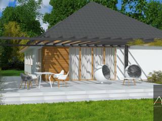Dom jednorodzinny: styl , w kategorii  zaprojektowany przez Architega Sp. z o.o.