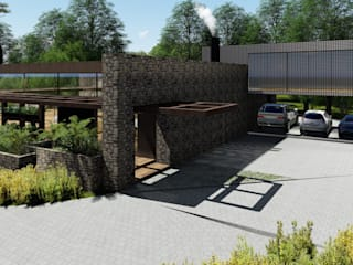 Garage/shed by MRAM Studio