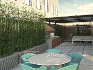 Modern balcony, veranda & terrace by C | C INTERIOR ARCHITECTURE Modern