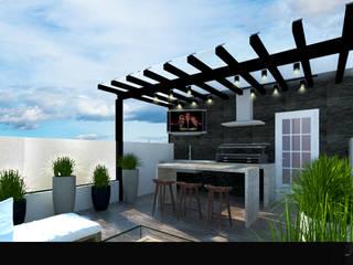 CASA ALMAYA: Terrazas de estilo  por WIGO SC