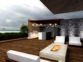 TERRAZA TOTOLTEPEC: Terrazas de estilo  por WIGO SC