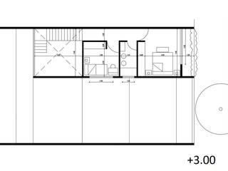 Planta Alta:  de estilo  por Saldivia Arquitectos