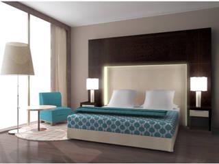 Habitación Minimalista Habitaciones de estilo minimalista de Arq. Nury Tafur Garzon Minimalista