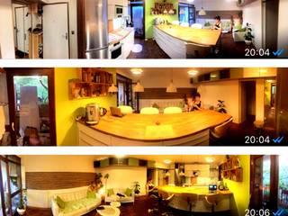 Appartement complet rdj donc paysagisme egalement: Cuisine intégrée de style  par Daphnis Fournier