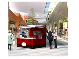 waffles : Centros Comerciales de estilo  por DCS ARQUITECTOS