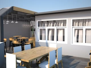 Bar terraza: Terrazas de estilo  por DCS ARQUITECTOS