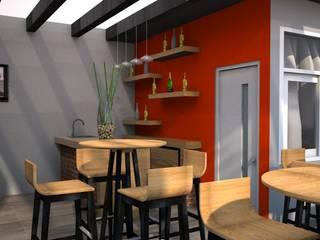 Bar: Terrazas de estilo  por DCS ARQUITECTOS
