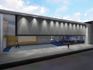 fachada avenida principal : Clínicas de estilo  de Lasso + Lasso arquitectos