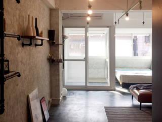 輕工業小宅 工業風的玄關、走廊與階梯 根據 DIANTHUS 康乃馨室內設計 工業風