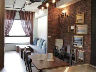 藝術工作者的私密天空:  餐廳 by DIANTHUS 康乃馨室內設計