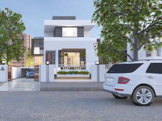 Front Elevation:   by Abhishek Patel Environ Design Pvt Ltd