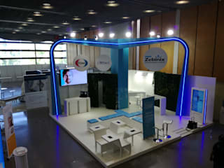 Corporative booth's Centros de Congressos industriais por Novintegral Industrial