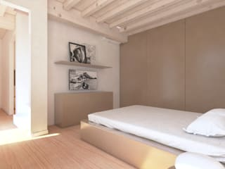Progetto per una casa un po' al mare...un po' in montagna: Camera da letto in stile  di smellof.DESIGN,