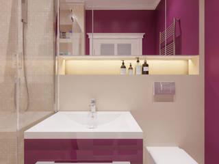 Дизайн-проект таунхауса в КП Марсель 162 кв. м.: Ванные комнаты в . Автор – Loft&Home