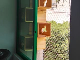 VIVE arquitectura Balkon, Beranda & Teras Modern