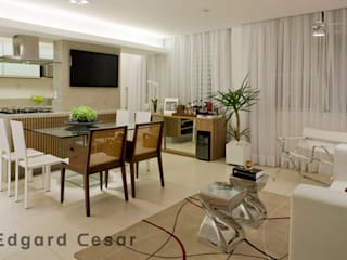 Apartamento de 70m² Salas de estar modernas por CK Arquitetura Moderno