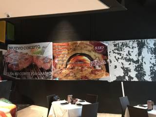 Remodelación de fotomural para BIFE CASUAL Gastronomía de estilo moderno de Magic Pop De México Moderno