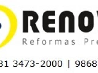 Renovo Reformas Retrofit Fachada 3473-2000 em Belo Horizonte Espaces de bureaux classiques Marbre