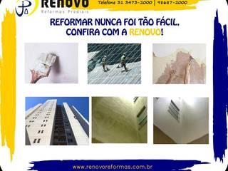 Renovo Reformas Retrofit Fachada 3473-2000 em Belo Horizonte Ospedali in stile classico Ceramica