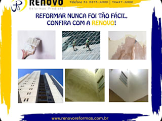 Hôpitaux de style  par Renovo Reformas Retrofit Fachada 3473-2000 em Belo Horizonte, Classique