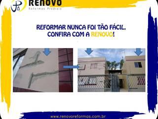 Renovo Reformas Retrofit Fachada 3473-2000 em Belo Horizonte Centri commerciali in stile classico Granito