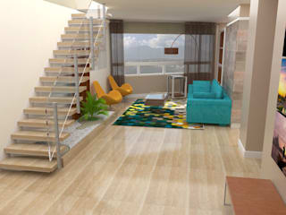 TRIBU ESTUDIO CREATIVO Living room