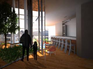 Cafetería:  de estilo  por Arketzali Taller de Arquitectura