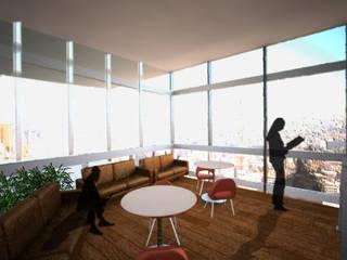 Área para fumar:  de estilo  por Arketzali Taller de Arquitectura