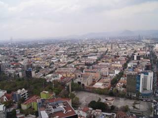 Vista de la ciudad desde el sky garden:  de estilo  por Arketzali Taller de Arquitectura