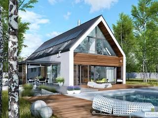 EX 19 G2 ENERGO PLUS - dom, który oddycha światłem: styl , w kategorii Dom jednorodzinny zaprojektowany przez Pracownia Projektowa ARCHIPELAG,Nowoczesny