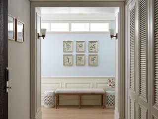 台中 許公館 經典風格的走廊,走廊和樓梯 根據 尚展空間設計 古典風