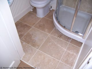 Tiling New Bathroom:   by Mercy Projects