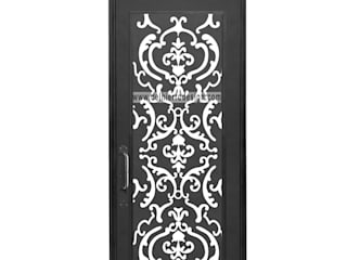 Puertas de hierro NUEVA Linea Contemporánea: Pasillos y recibidores de estilo  por Del Hierro Design