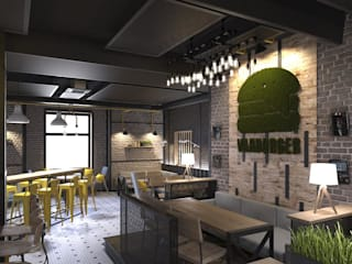 Green logo - Varburger bar, Dniproperivsk, Ukraine :  Conservatory by Moss Trend